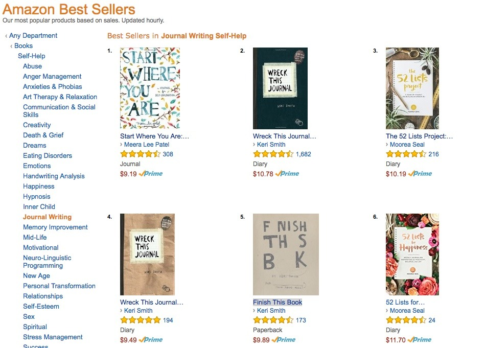Amazon Journal Bestsellers